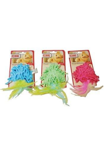 Kong Kat Moppy met veren in verschillende kleuren
