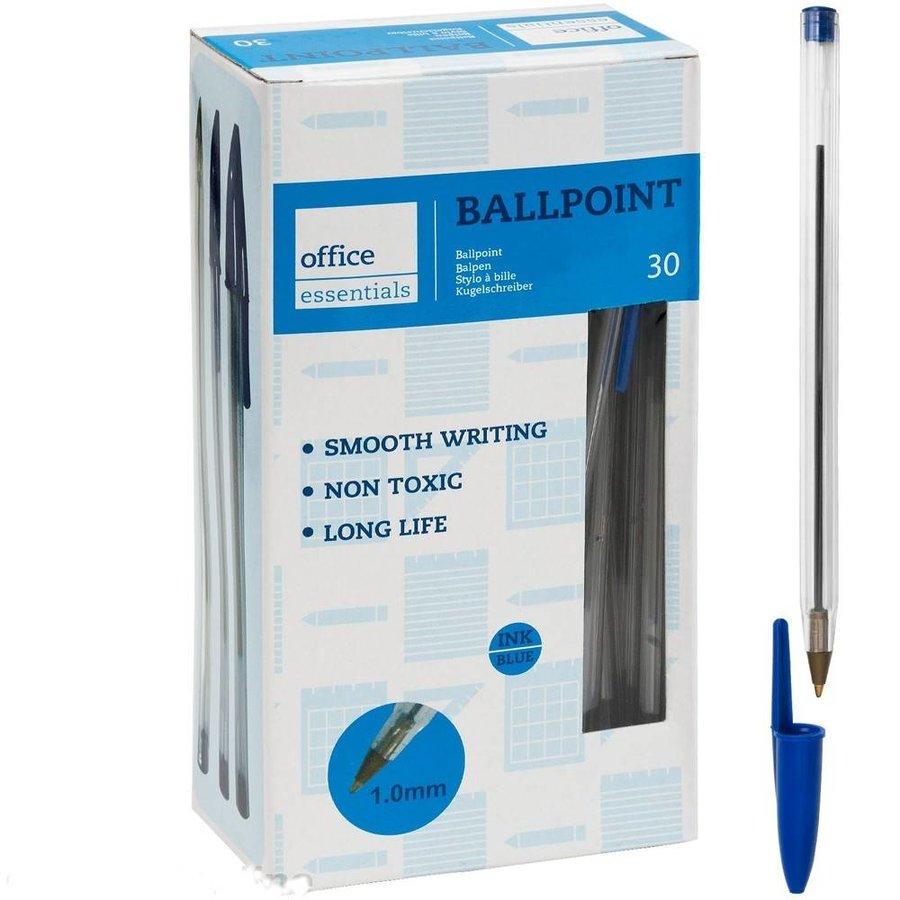 Balpennen blauw 30 stuks