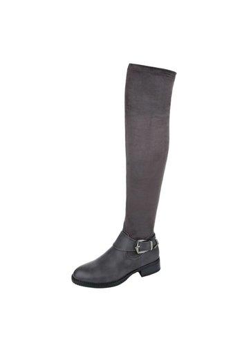 Neckermann Damen Overknee Stiefel - grey