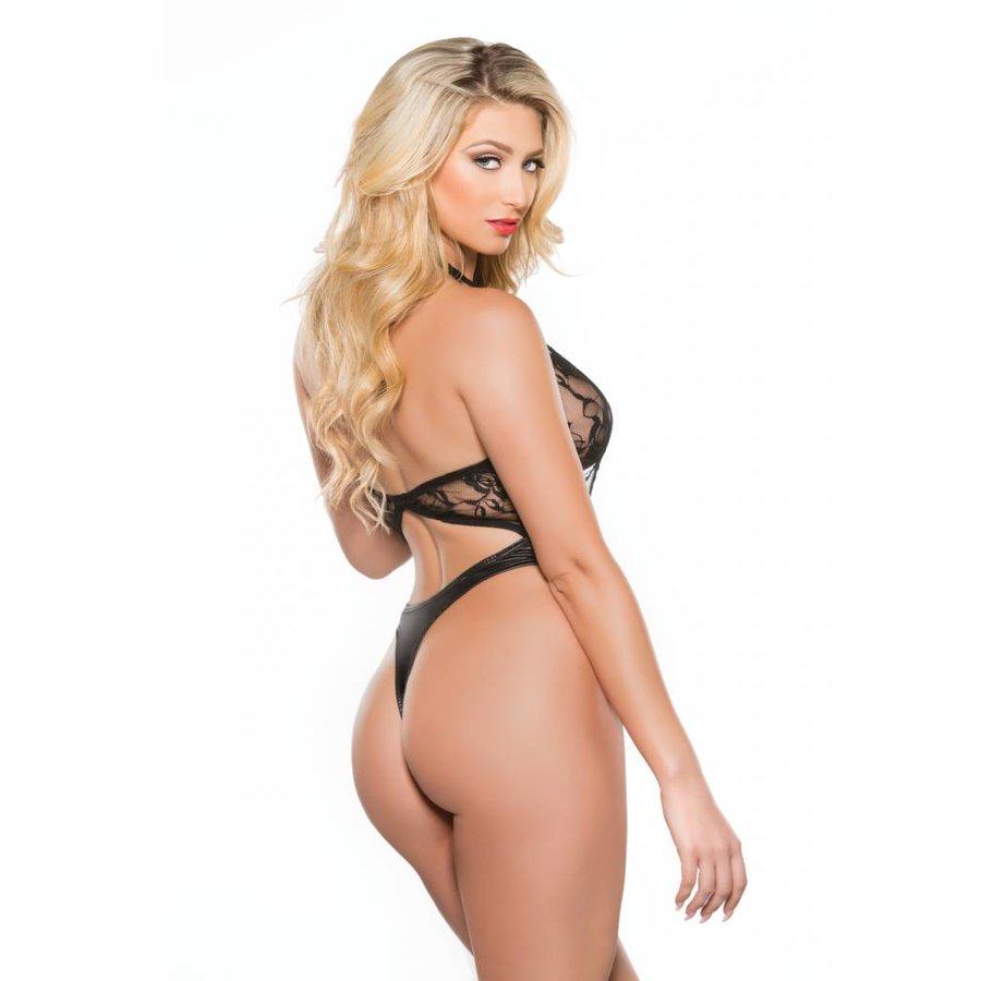 Plunging Left Lace Teddy