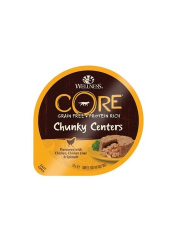 Wellness Core Chunky Centers - Kip, kippenlever & spinazie - 170 g