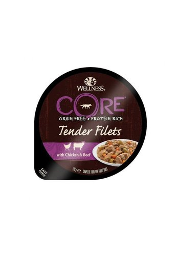 Wellness Core Tender Filets Kip, Rund, Wortel&Bonen 170 g