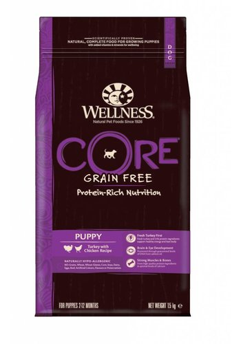Wellness Core Grain Free Puppy Kalkoen & kip 1,5 kg