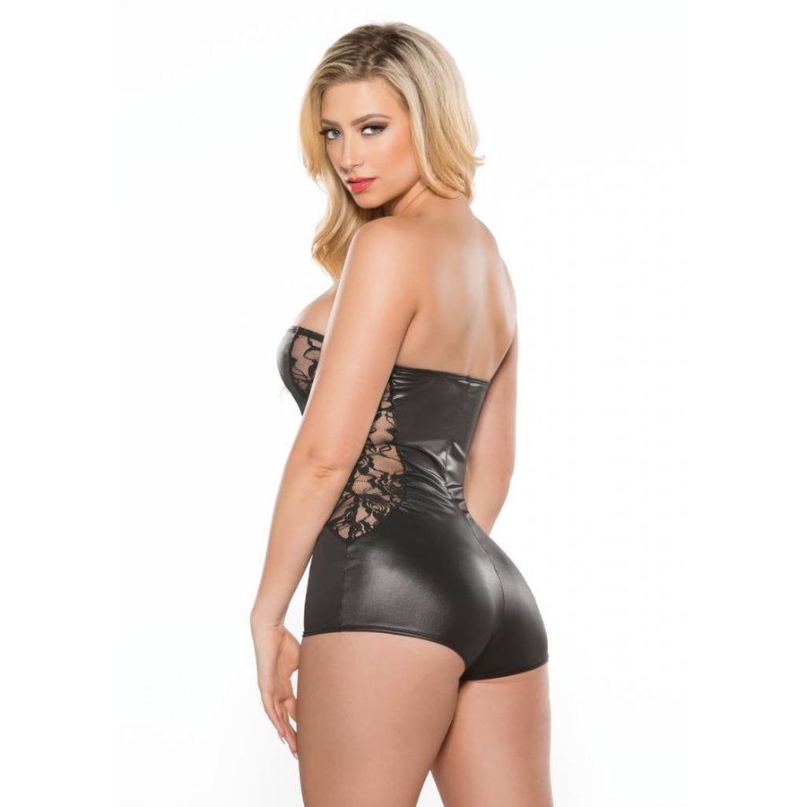 Side Lace Strapless Jumper
