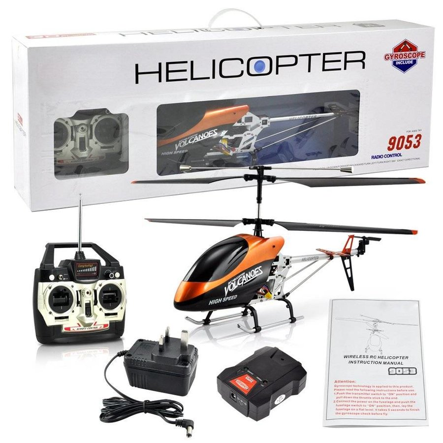 3d flying helicopter