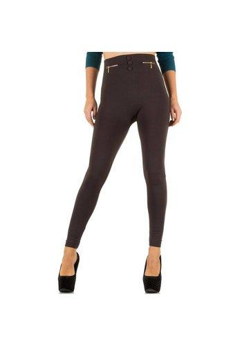 Best Fashion Dames legging van Best Fashion Gr. één maat - taupe