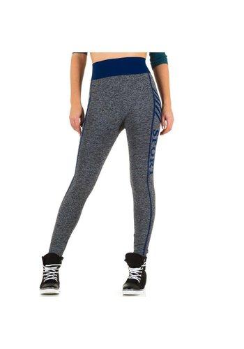 Best Fashion Dames legging van Best Fashion Gr. één maat - blauw
