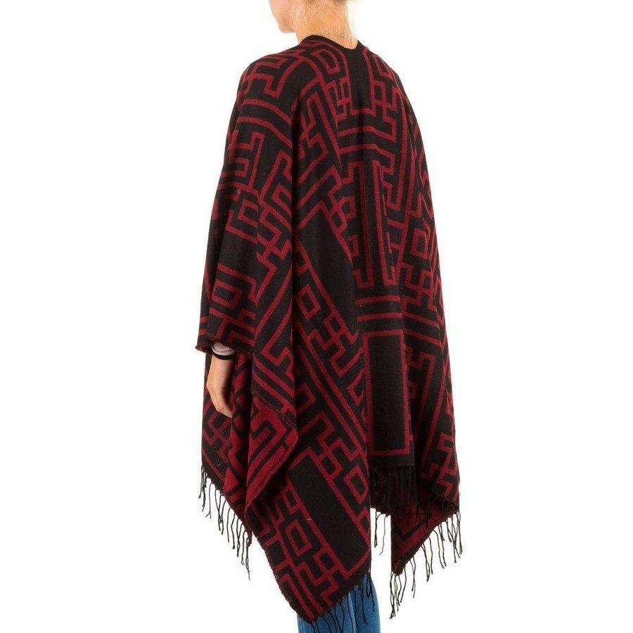 Dames Poncho van Best Fashion Gr. one size - bordeaux