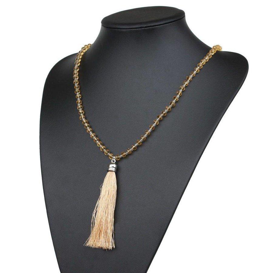 Damen Halskette - gelb
