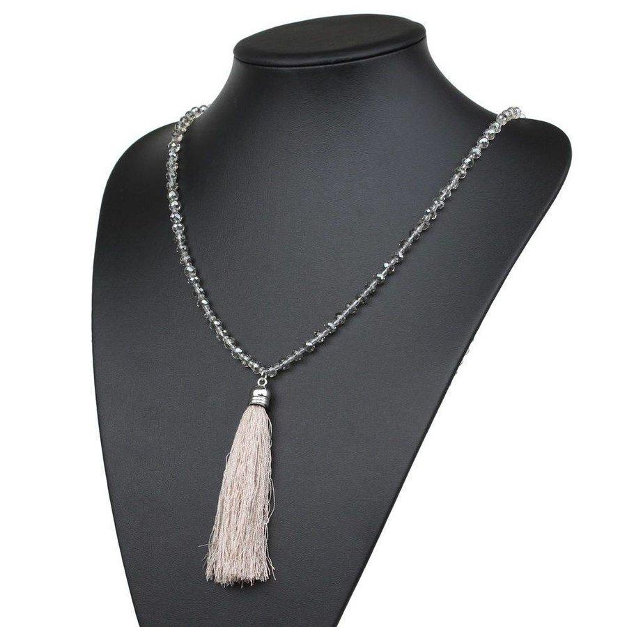 Damen Halskette - beige
