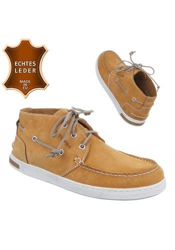 Neckermann Chaussures casual en cuir pour homme - camel