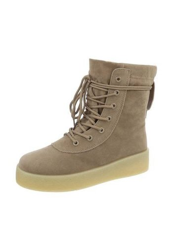 Neckermann Dames Hoge Sneakers - kaki