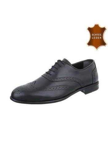 Neckermann Heren business schoenen in leer van COOLWALK zwart