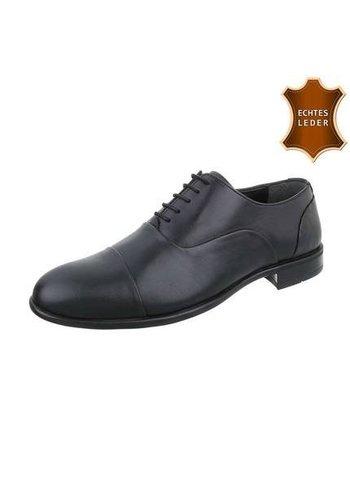Neckermann Heren Leren Business schoenen door COOLWALK zwart