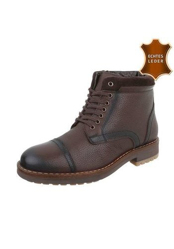 Neckermann Leder Herren Stiefeletten von COOLWALK coffee