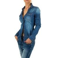 Damen Bluse von Mozzaar - blue