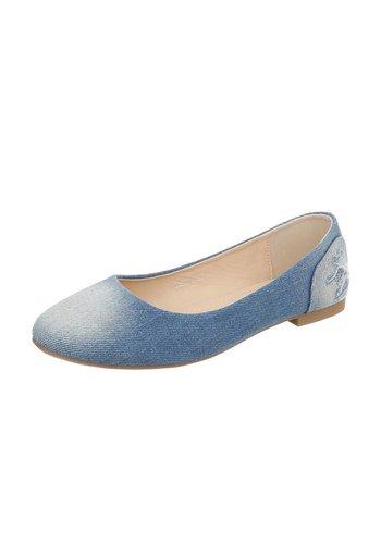 Neckermann Dames Ballerina's - LT.blauw