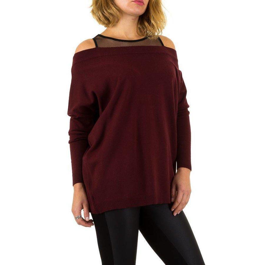 Damessweater van Moewy Gr. één maat - wijn