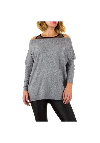 MOEWY Dames Sweater van Moewy Gr. één maat -grijs