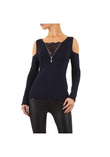 MOEWY Dames Sweater van Moewy Gr. één maat - DK.blauw