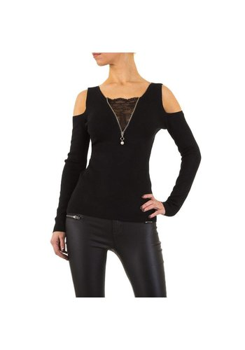 MOEWY Damen Pullover von Moewy Gr. one size - black