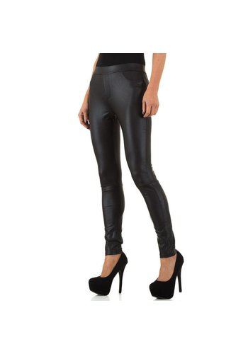 USCO Dames Legging in leerlook van Usco - zwart