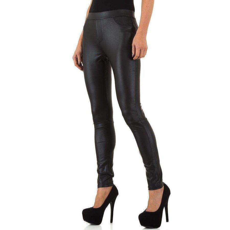 Damen Leggings in Lederoptik von Usco - schwarz