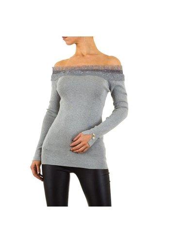 MOEWY Damen Pullover von Moewy Gr. one size - grey