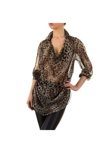 LEOOPTIK Damen Bluse von Leooptik - leopard