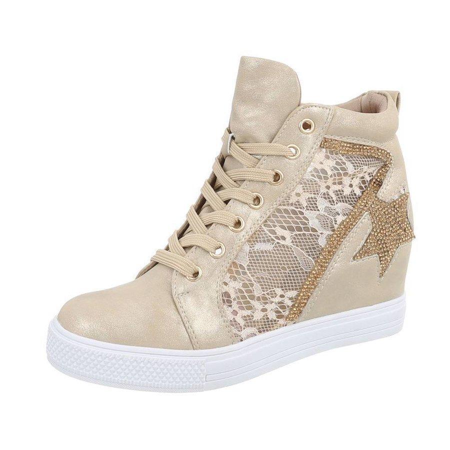 Damen Sneakers high - golden