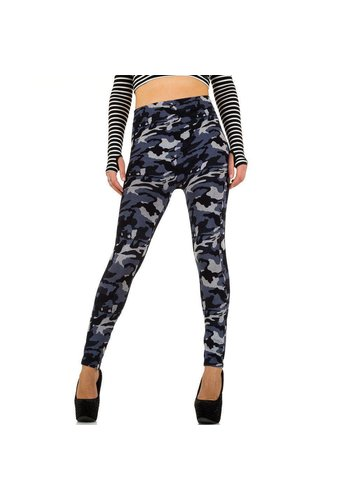 Best Fashion Dames Leggings van Best Fashion one size -Army Blauw