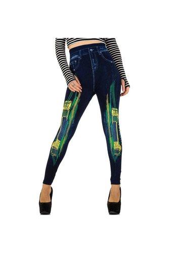 Best Fashion Damen Leggings von Best Fashion Gr. one size - blueyellow