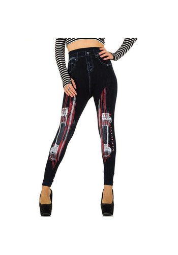 Best Fashion Dames Leggings van Best Fashion one size - Blauw Rood