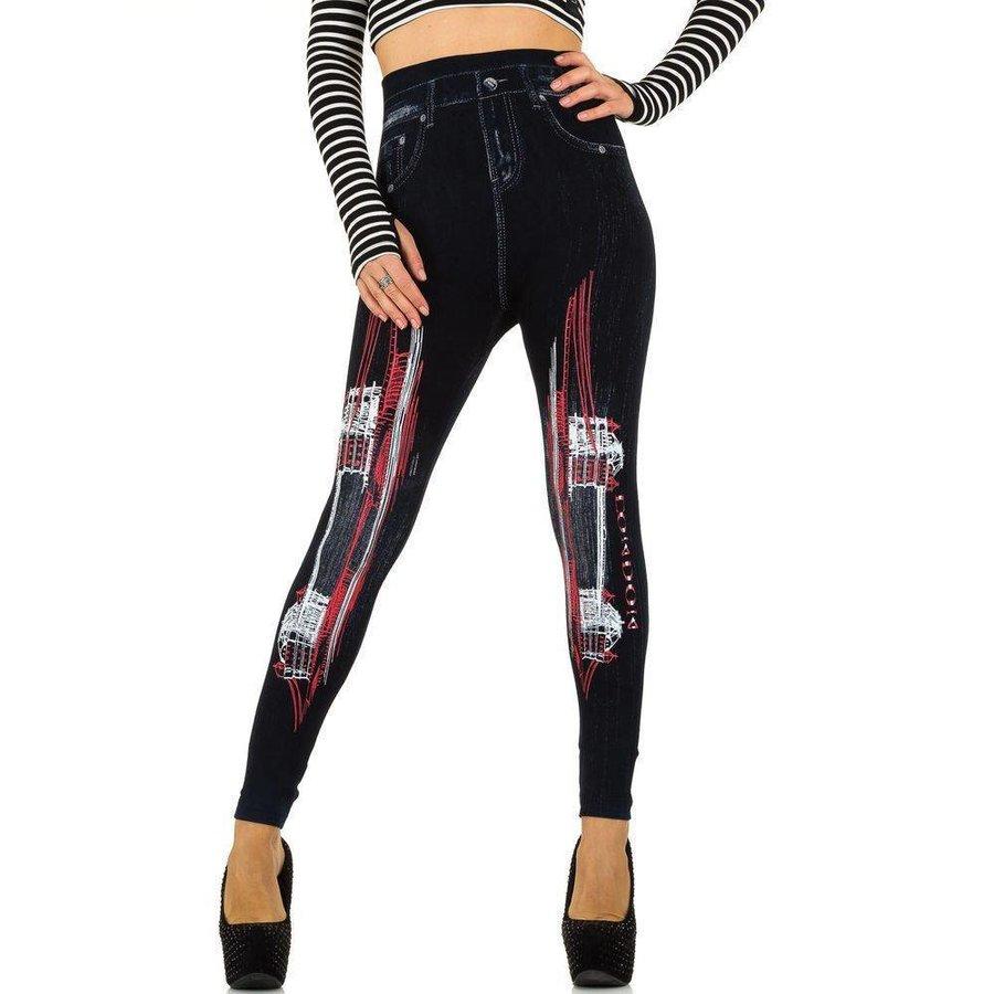 Damen Leggings von Best Fashion Gr. one size - blackred