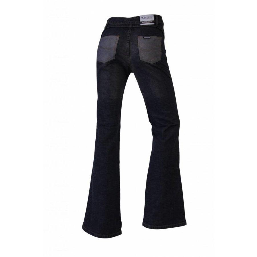 Dames flared broek donker-blauw