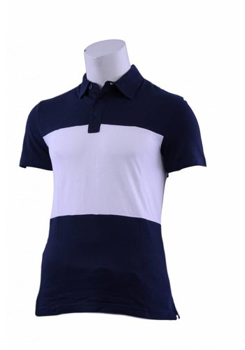 Celio Polo korte mouw blauw/wit