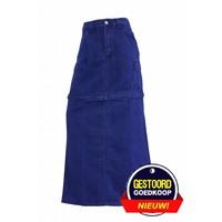 Dames lange spijkerrok donker-blauw