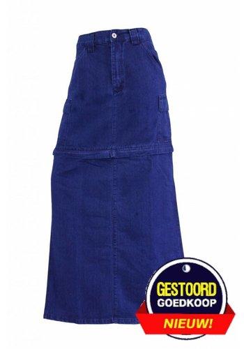 Neckermann Dames lange spijkerrok donker-blauw