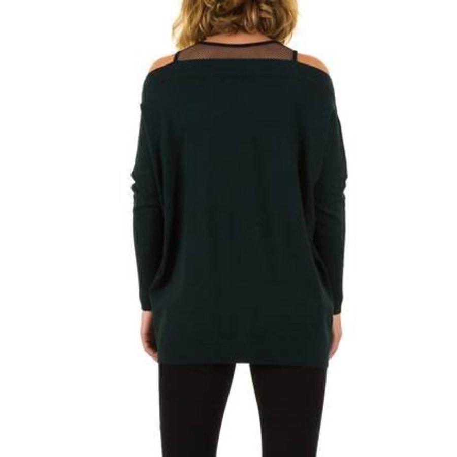 Dames Sweater van Moewy Gr. één maat -groen