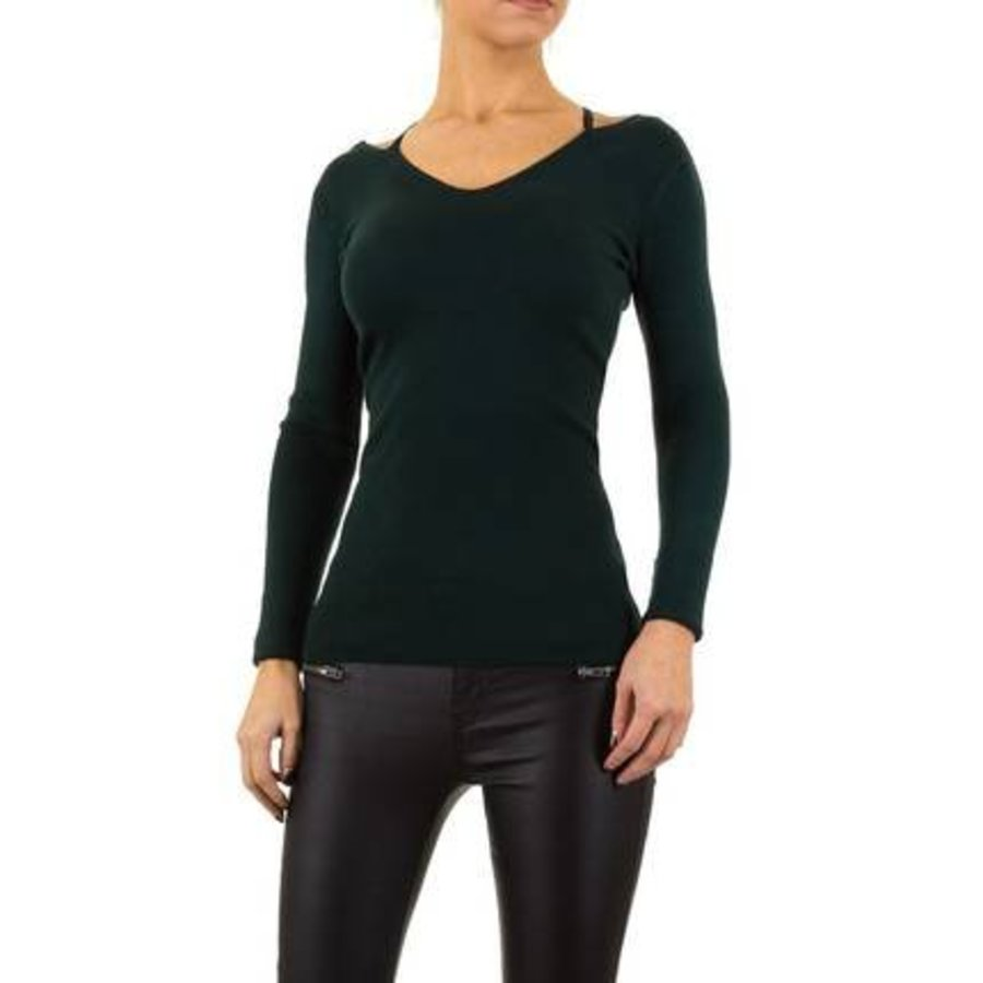 Damen Pullover von Moewy Gr. one size - petrol