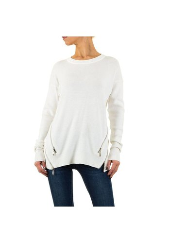 MOEWY Damen Pullover von Moewy Gr. one size - white