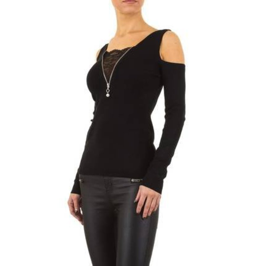 Damen Pullover von Moewy Gr. one size - black