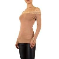 Damen Pullover von Moewy Gr. one size - apricot