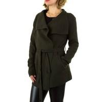 Damen Strickjacke von Shk Paris Gr. one size - khaki