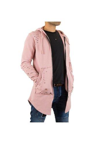 Neckermann Heren Sweatjack van Uniplay - roze