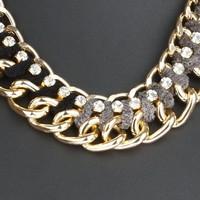 Damen Halskette - grey