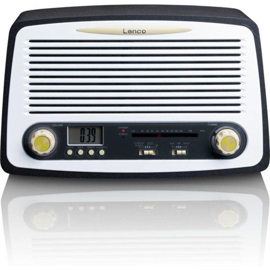 Retro FM stereo radio met alarm klok