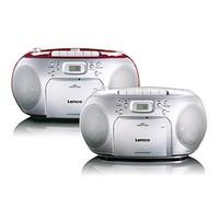 Draagbare stereo FM-radio met CD-speler en cassette