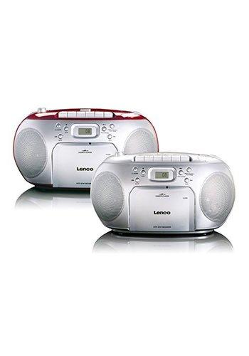 Lenco Draagbare stereo FM-radio met CD-speler en cassette