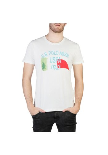 U.S. Polo Heren T-shirt van  U.S. Polo - wit